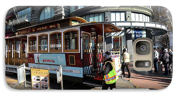 Galaxy Case featuring the photograph Cable Car Union Square Stop by Steven Spak