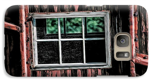 Galaxy Case featuring the photograph Caboose Window by Brad Allen Fine Art