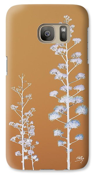 Galaxy Case featuring the photograph Cactus Architectre by Linda Hollis