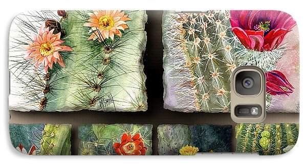Galaxy Case featuring the painting Cactus Collage 10 by Marilyn Smith
