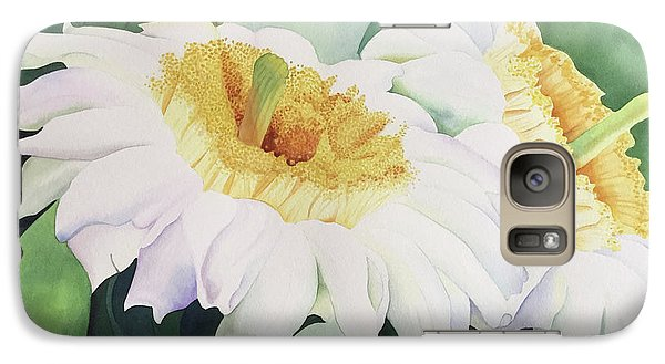 Galaxy Case featuring the painting Cactus Flower by Teresa Beyer
