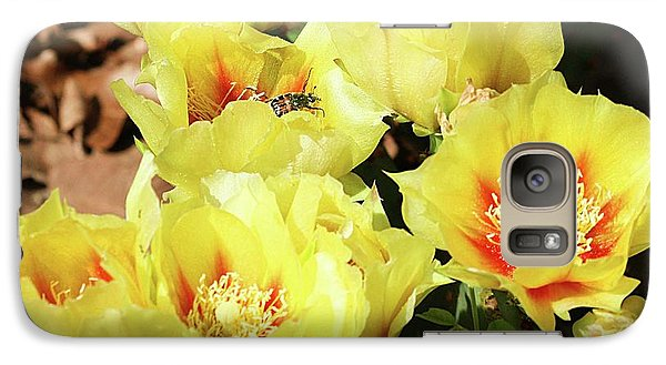 Galaxy Case featuring the photograph Cactus Flowers And Friend by Sheila Brown