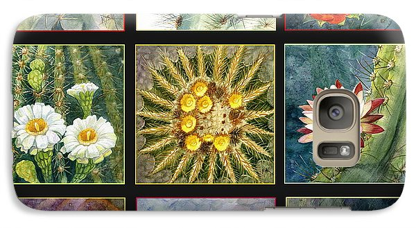Galaxy Case featuring the painting Cactus Series by Marilyn Smith