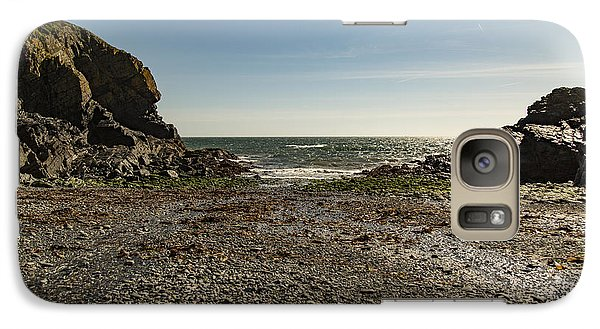 Galaxy Case featuring the photograph Cadgwith Cove Beach by Brian Roscorla