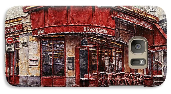Galaxy Case featuring the painting Cafe Des 2 Moulins- Paris by Joey Agbayani