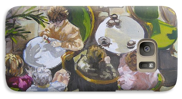Galaxy Case featuring the painting Cafe by Julie Todd-Cundiff