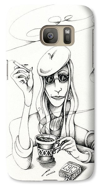 Cafe Lady Galaxy S7 Case