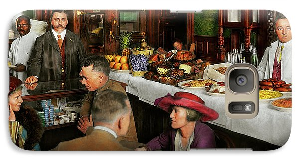 Galaxy Case featuring the photograph Cafe - Temptations 1915 by Mike Savad