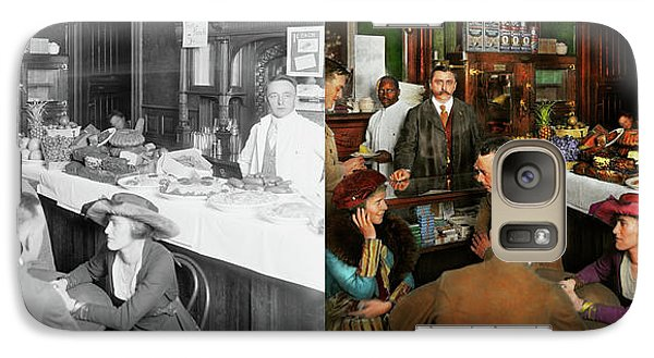 Galaxy Case featuring the photograph Cafe - Temptations 1915 - Side By Side by Mike Savad