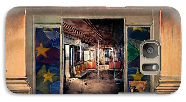 Galaxy Case featuring the painting Cafeteria by Mojo Mendiola