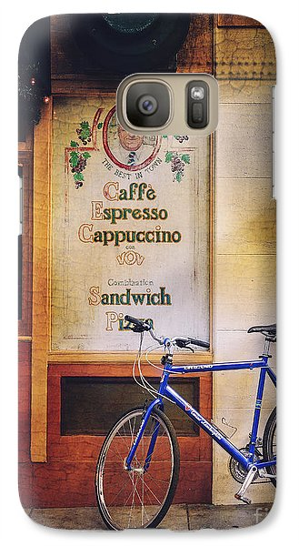 Galaxy Case featuring the photograph Caffe Expresso Bicycle by Craig J Satterlee