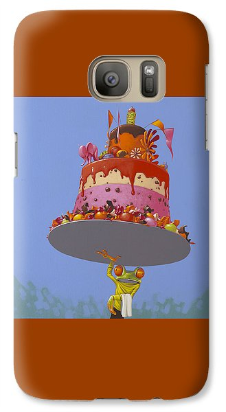 Cake Galaxy S7 Case by Jasper Oostland