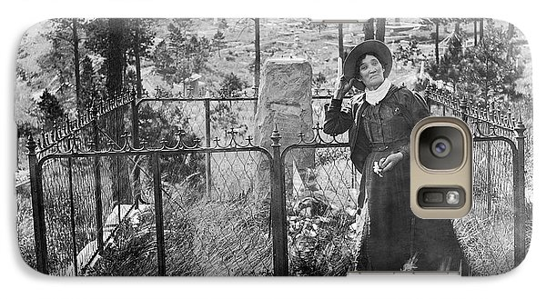 Galaxy Case featuring the photograph Calamity Jane At Wild Bill Hickok's Grave 1903 by Daniel Hagerman