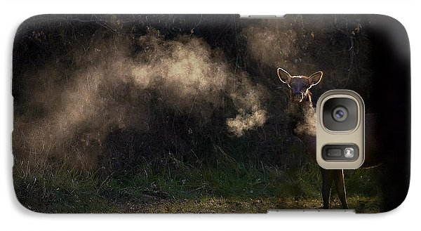 Galaxy Case featuring the photograph Calf Elk In December by Michael Dougherty