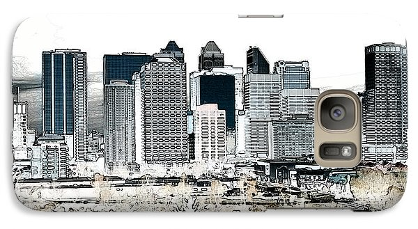 Galaxy Case featuring the digital art Calgary Skyline 1 by Stuart Turnbull