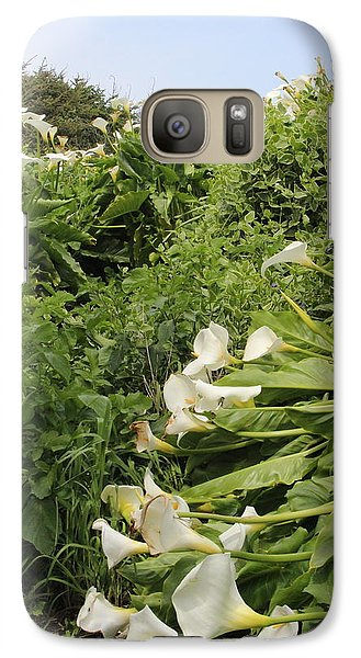 Galaxy Case featuring the photograph Cali Can You Hear Me by Marie Neder