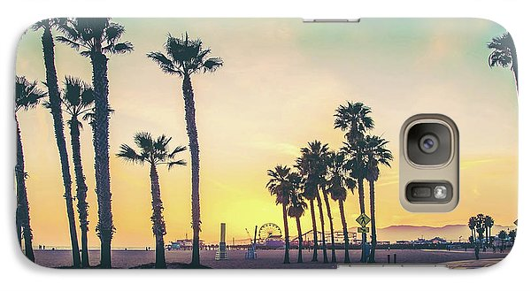 Venice Beach Galaxy S7 Case - Cali Sunset by Az Jackson
