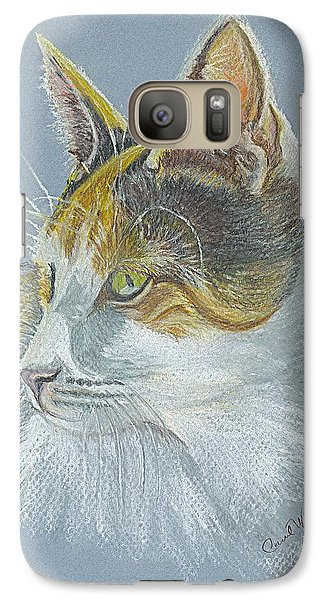 Galaxy Case featuring the drawing Calico Callie by Carol Wisniewski