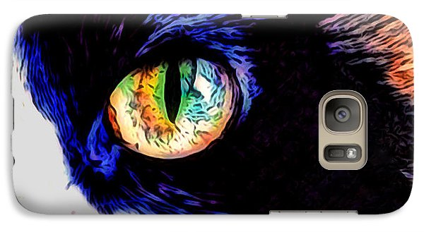 Galaxy Case featuring the photograph Calico Cat by Kathy Kelly