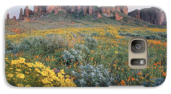 Mountain Galaxy S7 Case - California Brittlebush Lost Dutchman by Tim Fitzharris