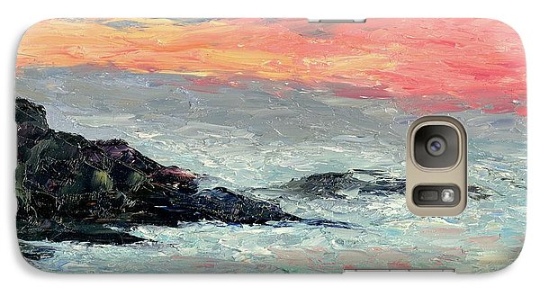 Galaxy Case featuring the painting California Coast by Gail Kirtz