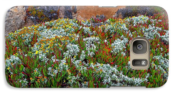 Galaxy Case featuring the photograph California Coast Wildflowers by George Bostian
