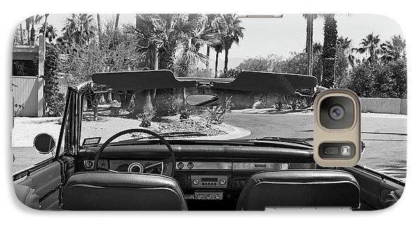 Galaxy Case featuring the photograph California Cruisin B And W by Cheri Randolph