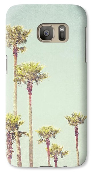Galaxy Case featuring the photograph California Dreaming - Palm Tree Print by Melanie Alexandra Price