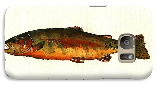 Trout Galaxy S7 Case - California Golden Trout Fish by Juan  Bosco