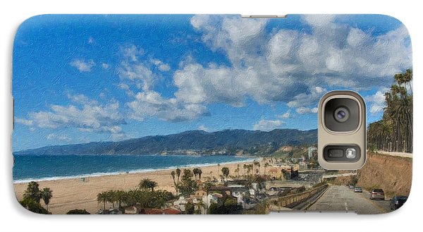 Galaxy Case featuring the photograph California Incline Palisades Park Ca by David Zanzinger