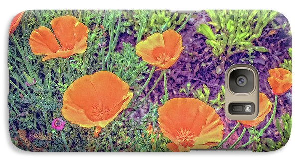 Galaxy Case featuring the photograph California Poppys Too by William Havle