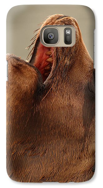Galaxy Case featuring the photograph California Sea Lion Calling Out by Max Allen