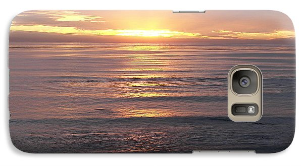 Galaxy Case featuring the photograph California Sunset by Carol  Bradley