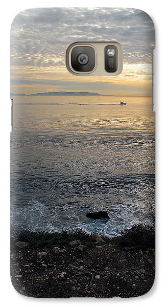 Galaxy Case featuring the photograph California Sunset by Joan  Minchak