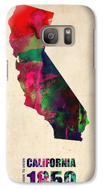 California Watercolor Map Galaxy Case by Naxart Studio