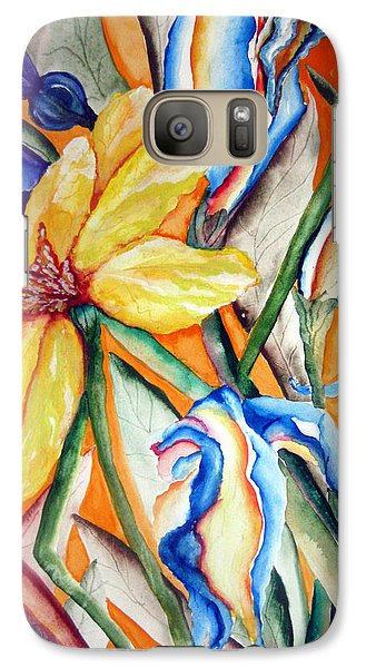 Galaxy Case featuring the painting California Wildflowers Series I by Lil Taylor