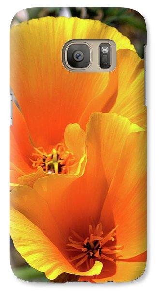 Galaxy Case featuring the photograph Californian Poppy by Baggieoldboy