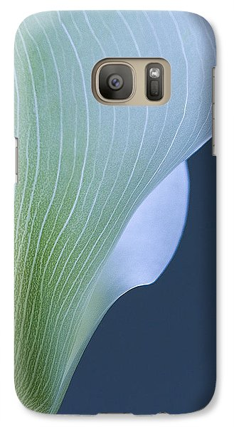 Galaxy Case featuring the photograph Calla Curves by Tom Vaughan