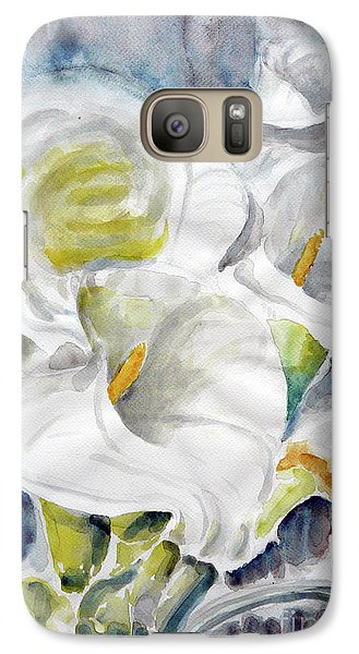 Galaxy Case featuring the painting Calla by Jasna Dragun