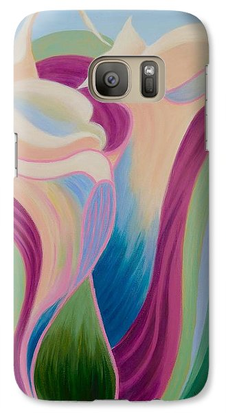 Galaxy Case featuring the painting Calla Lilies by Irene Hurdle
