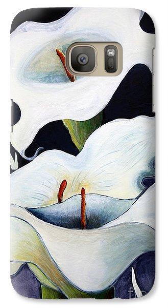 Galaxy Case featuring the painting Calla Lilies.. by Jolanta Anna Karolska