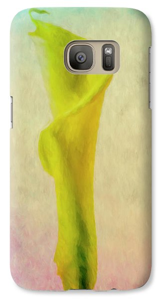 Galaxy Case featuring the photograph Calla Lilly Echo Flower by David Haskett