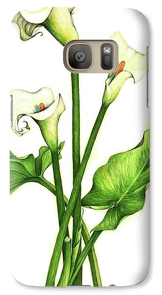 Galaxy Case featuring the painting Calla Lilly by Heidi Kriel