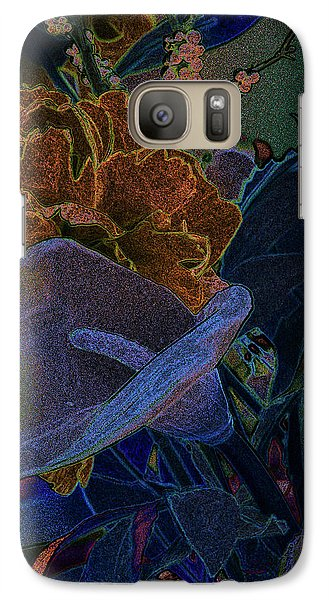 Galaxy Case featuring the digital art Calla Lily Abstract by Stuart Turnbull