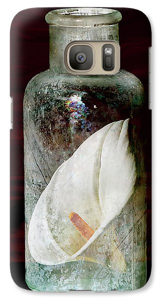 Galaxy Case featuring the photograph Calla Lily In A Bottle by Phyllis Denton