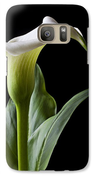 Lily Galaxy S7 Case - Calla Lily With Drip by Garry Gay