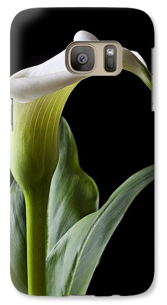 Calla Lily With Drip Galaxy Case by Garry Gay