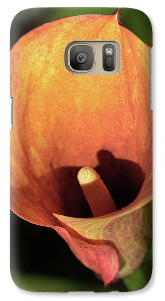 Galaxy Case featuring the photograph Calla Sunbathing. by Terence Davis