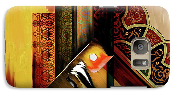 Galaxy Case featuring the painting Calligraphy 102  2 1 by Mawra Tahreem