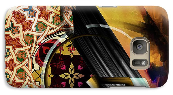 Galaxy Case featuring the painting Calligraphy 103 1 1 by Mawra Tahreem